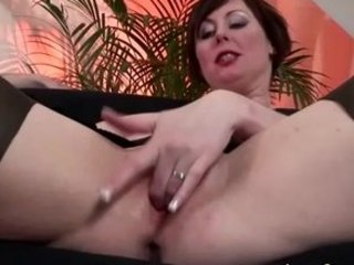 cougar english girl into nylons takes drilled and