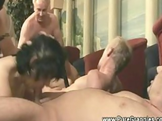 grandmothers obtains dick group sex