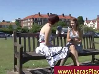 older  girl picks up fresher girl for her passion