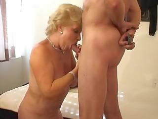 hot goldenhaired granny smokin fuck