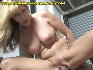 naughty bleached lady is blowing and drilling a