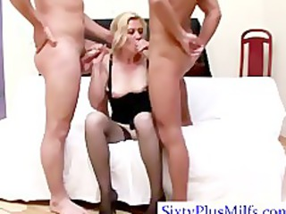 watch elderly doing a double cock