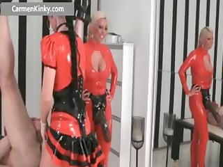 two naughty large breasted latex horny milf part4