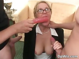 pale chubby milf taking fingered