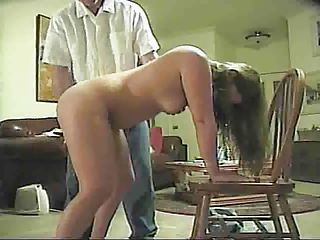 hubby spanks lady