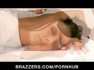 big-tit brunette pornstar jessica jaymes massaged