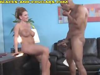 woman obtains a black pounding