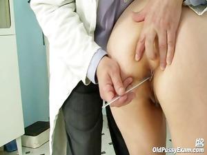 granny miriam nurse gyno speculum pussy checkup