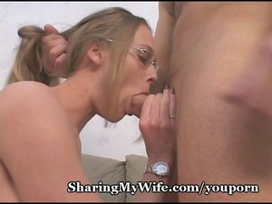 sissy hubby shares wifes awesome vagina