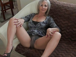 handsome albino momma inside stockings does
