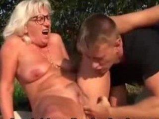 grandma bangs fresher male outside