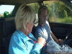 car driver gang-bangs old bitch