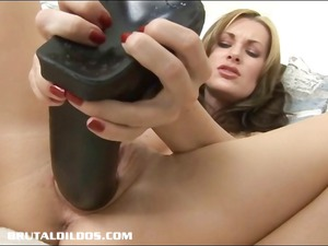 awesome lady aaliyah gang-banging a brutal sex toy