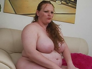 albino big redhaired momma uses her fresh fuck