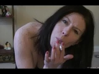 a awesome maiden smokes and enjoys for you