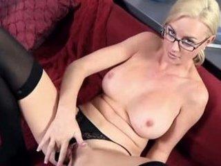 bureau lady works cave to orgasm
