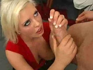 bosomy albino lady inside fishnets acquires a