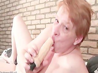 insane mature woman licking large vibrator part5