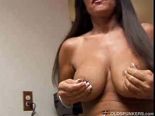 busty cougar girl with sweet giant breast and a