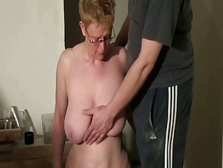 horny cougar slaves spanking and dick sucking