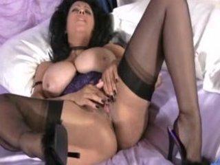 huge boobies grownup stroking vagina