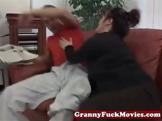 large mature gets young cock