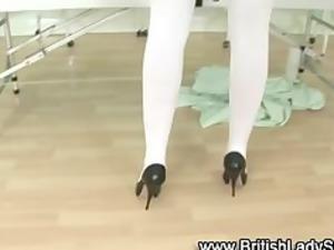 british classy mature nurse obtains horny