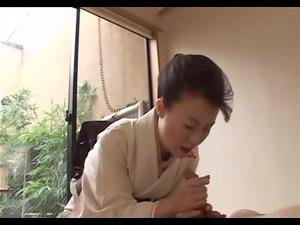 japanese aged gives full geisha treatment