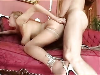 horny grownup into nylons enjoys to drill