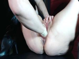 surprising woman fingering spurting &;