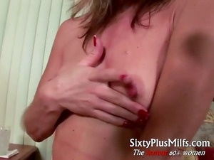 busty mature maiden gives kinky solo